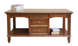 Rectangular coffee table inlaid drawers