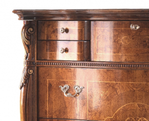 Classic carved dresser with flap
