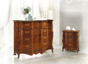 Elegant bedside table in classic style Verona700