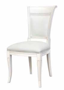 Elegant padded chair in beech wood