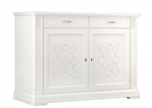 Decorated sideboard for dining room