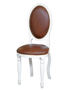 Oval chair Empire with tufted backrest