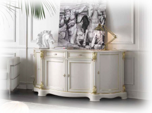Classical sideboard with gold details