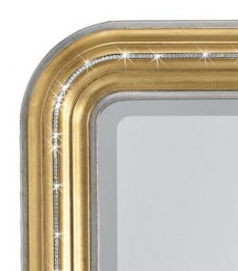 Rectangular mirror gold and swarovski