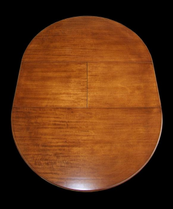 Extendable round table in Louis Philippe style 120-159 cm