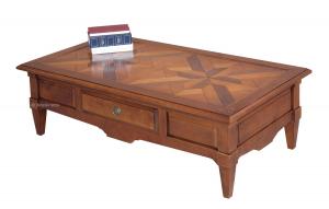 Cherry wood tessellated coffee table