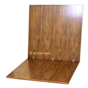 Flip top extending table cm 100-200 inlaid top