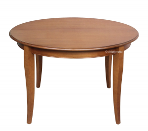 Round extendable dining table 100 cm