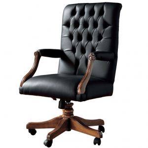 Swivel office armchair LUX