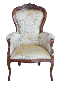 Carved classic armchair