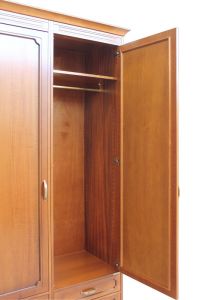 Storage wardrobe in wood 4 drawers
