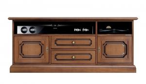 Wooden tv unit soundbar shelf