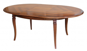 Inlaid oval table for dining room 160-210 cm