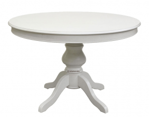 Extendable round dining table 110-149 cm
