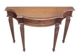Carved console table with drawer
