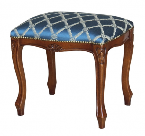 Classic footrest stool in 1700s style