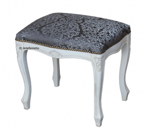 Lacquered footrest stool in 1700s style