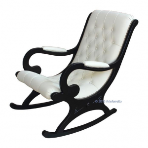 Lacquered rocking armchair
