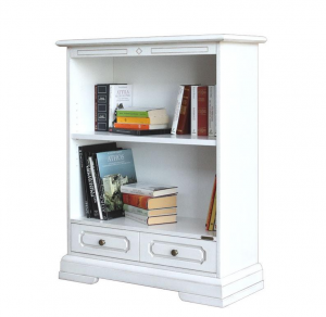 Low bookcase with drawer