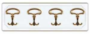 Lacquered hat and coat rack 4 hooks