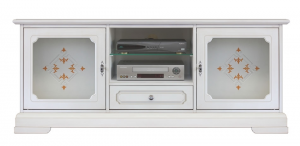 Tv stand cabinet with glass doors