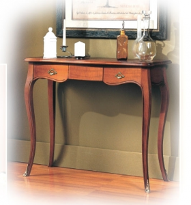 1 drawer shaped console table