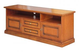 Tv entertainment unit 150 cm wide, wooden cabinet