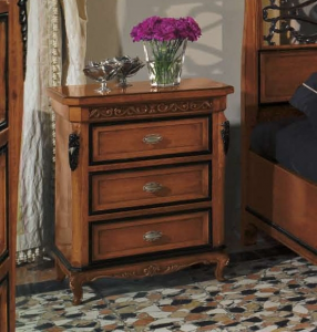 Classic nightstand with leaf details