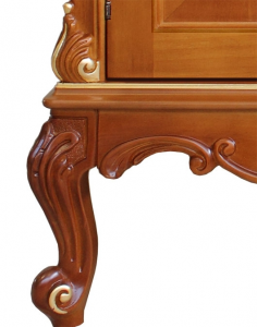 Carved sideboard with briar-root