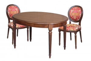 Extendable oval table for dining room 130-210