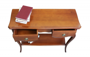 Classic console table in cherry wood