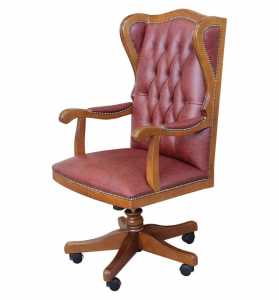 Upholstered swivel office armchair King