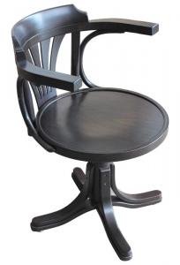 Wenge swivel armchair for study room