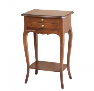 2 drawer side table in wood