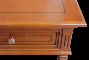 2 drawer inlaid desk