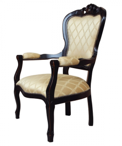 Black armchair in classic style
