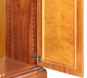 Classic cherry wood unit 2 doors 1 wide drawer