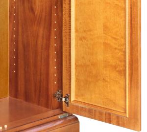 2 door lacquered unit in wood