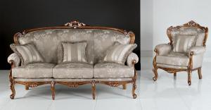 Carved beech wood sofa 'Villa Del Conte'