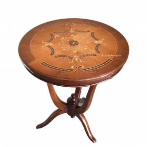 Inlaid side table in wood 'Artelegance'