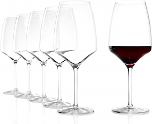 Set 6 calici in vetro da vino rosso Bordeaux Experience ml 645 cm.23,8h diam.9,5