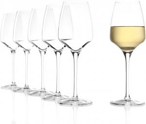 Set 6 calici in vetro da vino bianco Experience ml 350