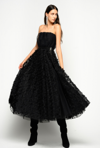 SHOPPING ON LINE PINKO ABITO ELEGANTE IN TULLE A FIORI JONNY NEW COLLECTION WOMEN'S FALL WINTER 2020/21