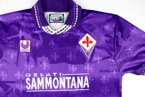 1994-95 fiorentina Maglia match worn Home #14 L (Top)
