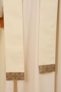Casula Bianca Stolone seta operata in Sallia di Pura Lana