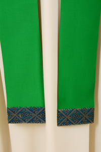 Casula Verde Stolone seta operata in Sallia di Pura Lana