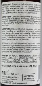 Shampoo Delicato per Cuccioli di Cane e Gatto M'ma Pets