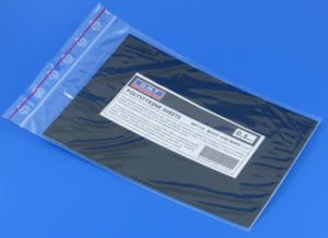 0,5 mm, black+white polystyrene sheet