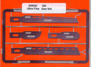 4 razor saws in 5 Thou Stainless Steel