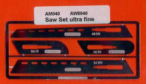 4 ultra fine stainless steel razor saws
